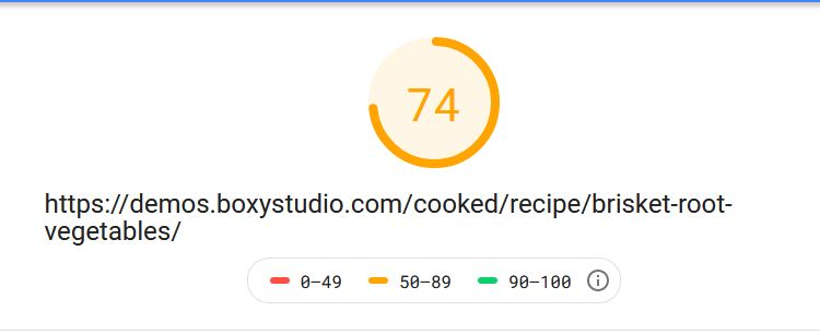 Cooked Pro Pagespeed