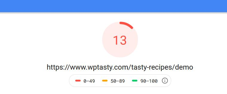 WPTasty Pagespeed